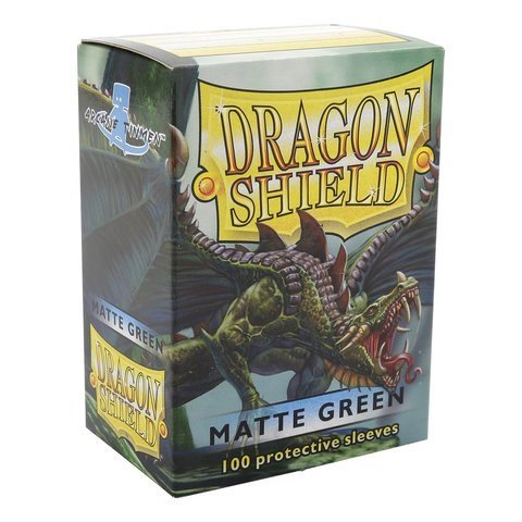 Dragon Shield Matte Green 100 Deck Protective Sleeves in Box, Standard Size for Magic he Gathering -