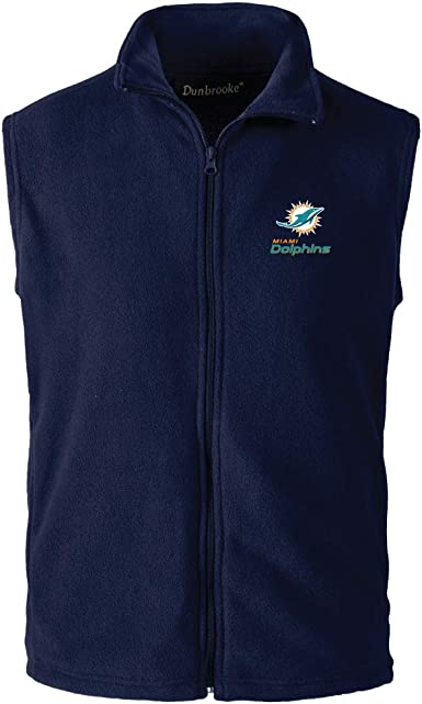 NFL Miami Dolphins Mens Houston Fleece Vest Navy 3X-Large