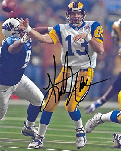 - Kurt Warner, St Louis Rams, Signed, Autographed, Football 8X10 Photo, a Coa with the Proof Photo of Kurt Signing Will Be Included.