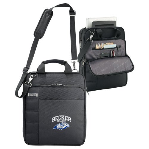 Becker Kenneth Cole Black Vertical Checkpoint Friendly Messenger 'Primary Mark' by CollegeFanGear