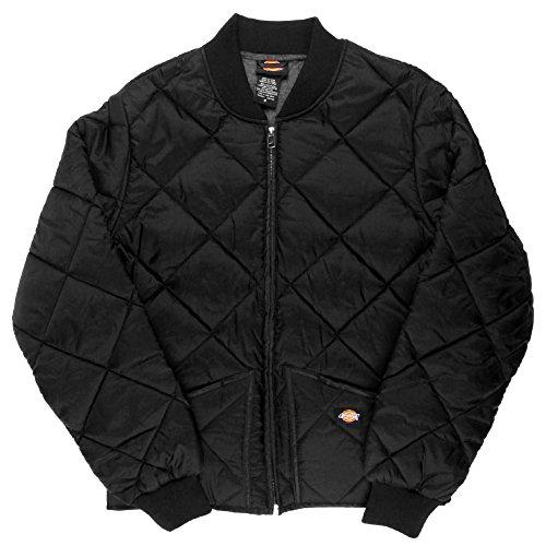 Dickies Diamond Quilted Nylon Work Jacket Black