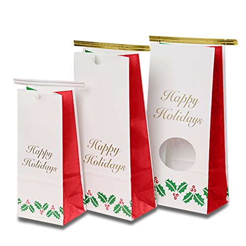 Holiday Tin Tie Coffee Bags 4-1/4'' X 2 1/2'' X 9 1/2''   Quantity: 100