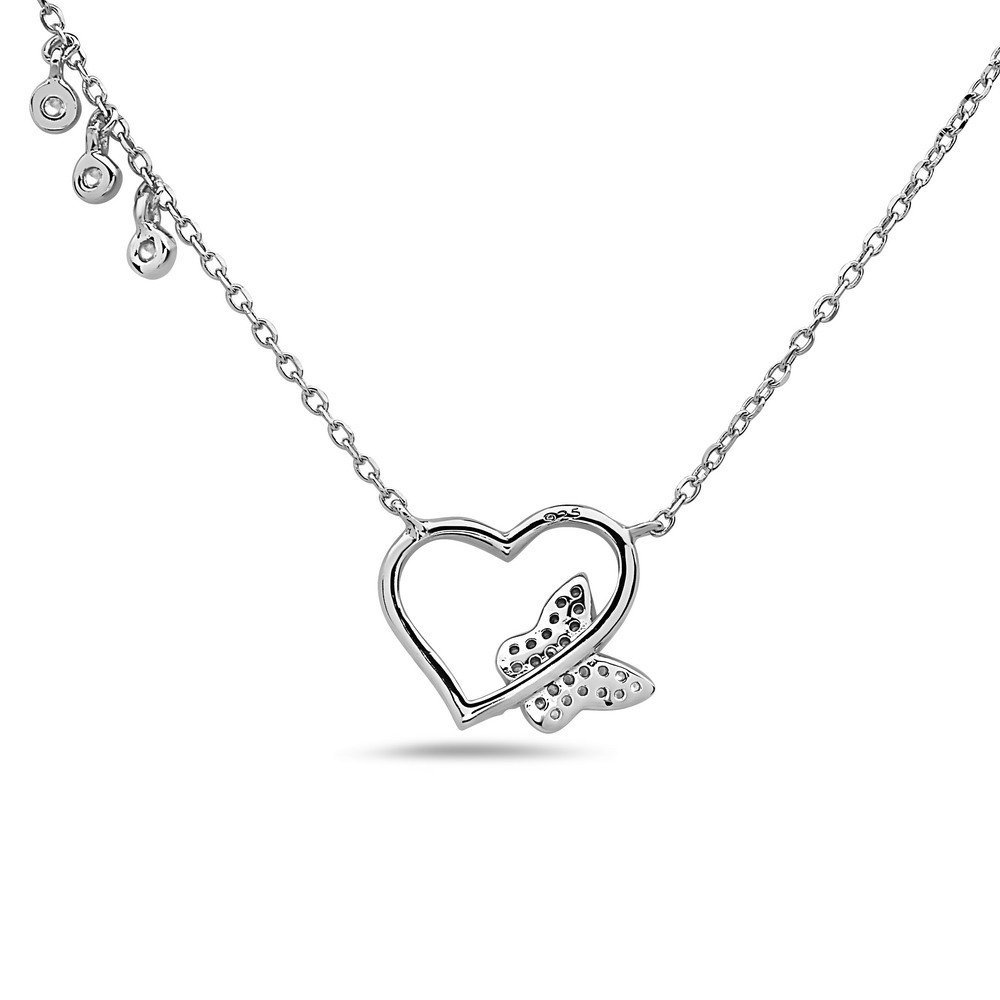 16-18 inch Chain Included Crush /& Fancy Heart Shape Pendant Necklaces Made with 925 Sterling Silver and German Crystals