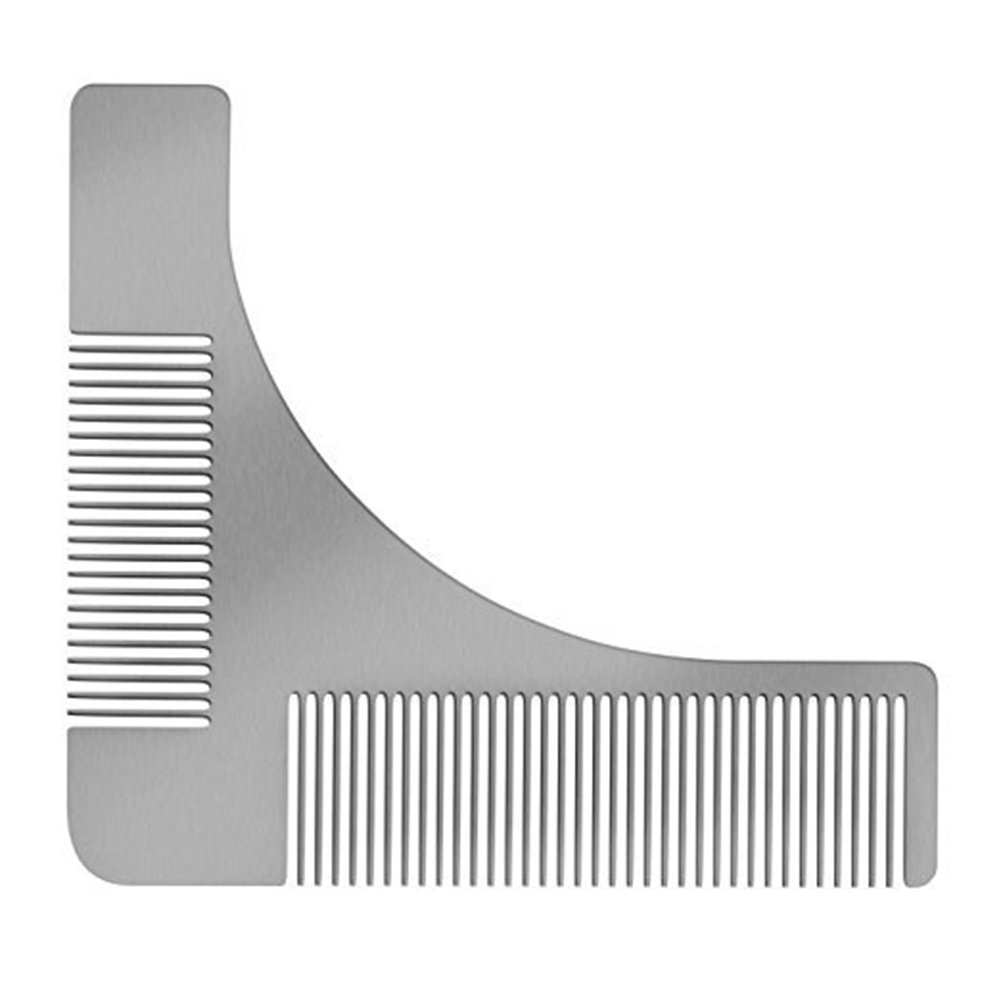 Meitianle Stainless Steel Beard Styling Tool with Comb,Beard shaping tool for Men