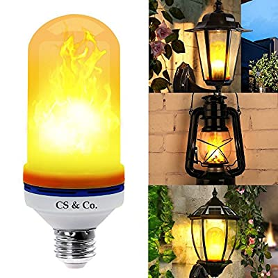 [NEW 2018 MODEL] LED Flame bulb light bulbs, Fire Decorative Flickering effect, 105pcs 2835 Simulated Decor Atmosphere Lighting Vintage Flaming for Bar, patio, Festival Decoration By CS & Co.