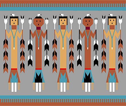 Navajo Yei Figures - Foundation Paper Piecing Pattern - 2) quilts: 12 1/2