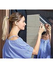 QIXIN Mirror Wall Sticker-Mirror Effect Wall Sticker Anti-Fall, Non-Glass Plastic Wall Mirror Room Decoration, self-Adhesive Flexible Yoga, Sports, Makeup haha ??Mirror (24 * 79inch)