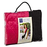 East Side Collection Reversible Sling Pet Carriers — Brightly Colored Polyester Over-the-Shoulder Carriers for Small Dogs, Black and Pink
