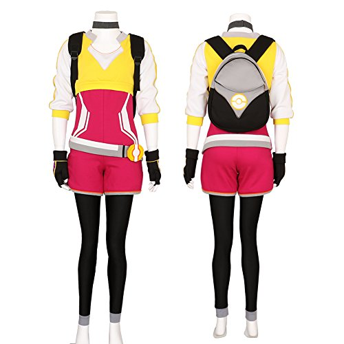 Women's Pokemon Go Trainer Uniform Team Valor Instinct Mystic Cosplay Costume Large