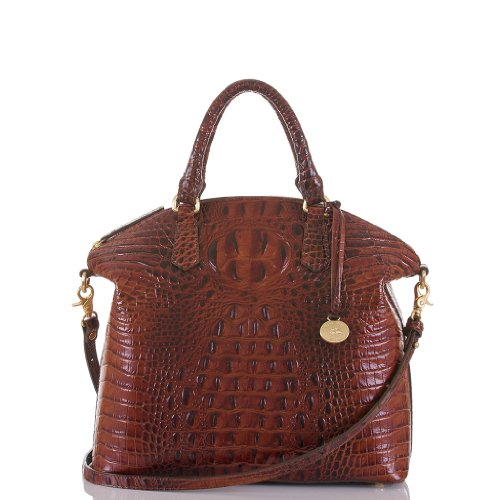 Brahmin Large Duxbury Satchel, Pecan, One Size by Brahmin