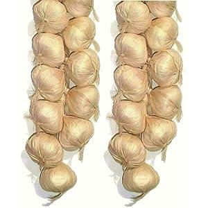 "2 x 20"" Garlic Strings, Artificial Vegetables 2"
