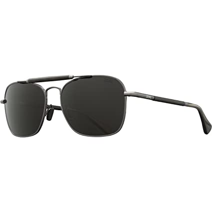 bfc77381ce Image Unavailable. Image not available for. Color  Zeal Optics Draper  Polarized Sunglasses - Polished Steel Frame with Dark Grey Lens