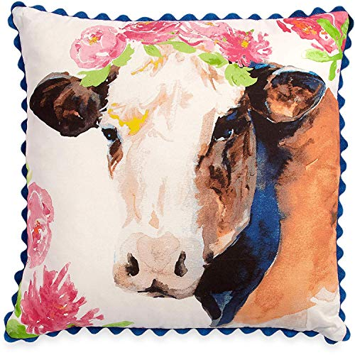 The Pioneer Woman Cow Throw Pillow Decorative Toss Farmhouse Decor -
