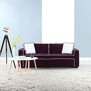 Amazon Com Divano Roma Furniture Modern 79 Quot Inch Two Tone