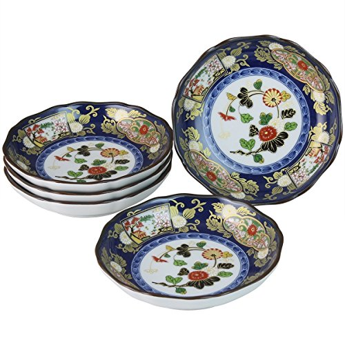 Arita yaki CtoC JAPAN Plate x5pcs set Porcelain Size(cm) Diameter 14x3 ca083391 (China Plates Porcelain Japan)