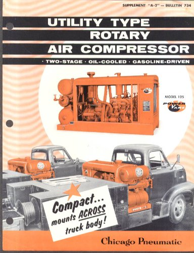 (Chicago Pneumatic Utility Type Rotary Air Compressor sell sheet 1957)