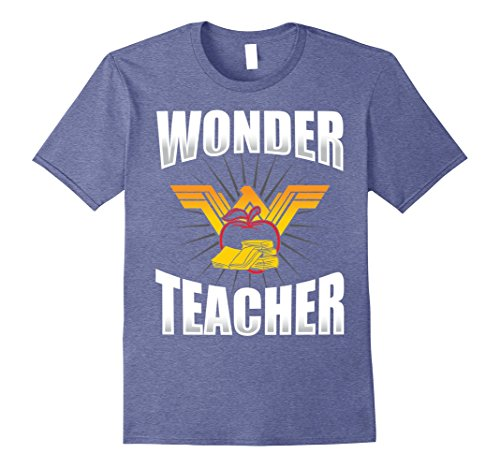 2b2d9e715 Mens Wonder Teacher T-Shirt - Funny Teacher Life T-Shirt XL Heather Blue