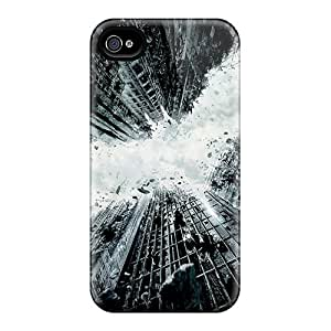 Tpu Case Cover For Iphone 4/4s Strong Protect Case - The Dark Knight Rises 2012 Design