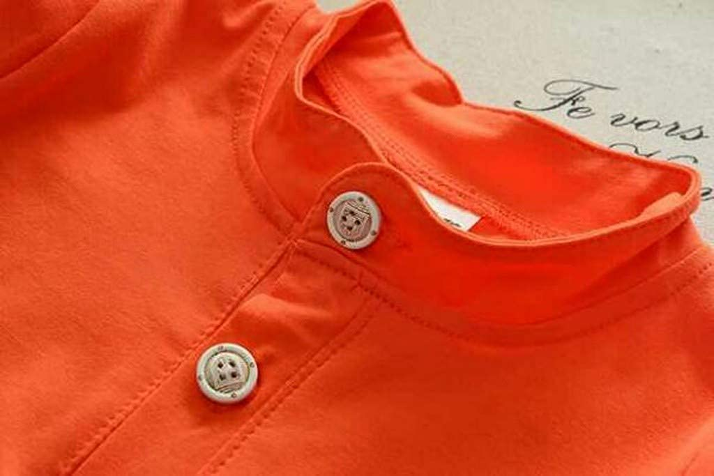 MOGOV Baby Boys Kids Summer Casual Short Sleeve Star Print Button Tops Shorts Clothes Set Orange