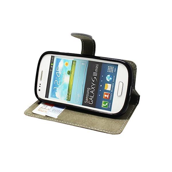 STYLE YOUR MOBILE Samsung Galaxy S3S III Mini I8190Piel sintética con Cierre magnético Carcasa Skin Funda Bolsa + Protector + Lápiz Capacitivo 8
