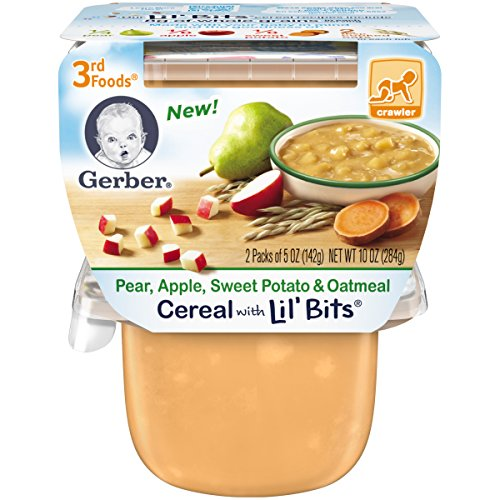 Gerber 3rd Foods Lil Bits Pear, Apple, Sweet Potato & Oatmeal Baby Food, 6 Count