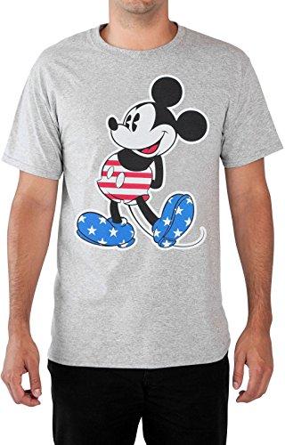 Disney Mens T-Shirt Big Tall Mickey Mouse Print (USA Flag, - Flag Mouse Mickey