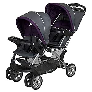 Baby Trend Sit N Stand Double Stroller - Grey and Purple, 14.74 kg - SS76715