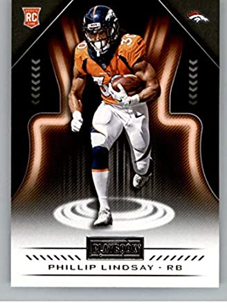 new styles d44cb 2cb23 2018 Playbook Football #197 Phillip Lindsay RC Rookie Card Denver Broncos  Rookie Official NFL Card Produced by Panini