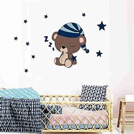 Cr/éatif Chambre denfant Mignon Ours endormi Sticker Mural 35 35cm Nikgic