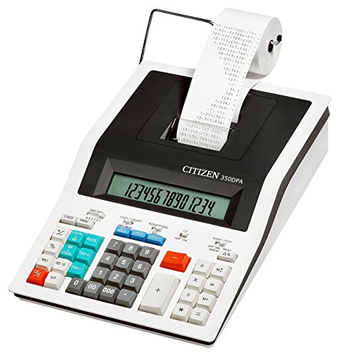 Printing calculator 350DPA, 2-color printing, Print speed 4.5 l/s,14-Digit Displ by Citizen