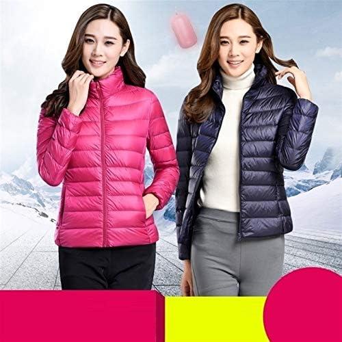 ZZYLHS Plue Taille 6XL 7XL Duvet de Canard Veste Femmes Ultra léger Down Jacket Plume Veste Coupe-Vent Femmes Pardessus Manteaux (Color : Rose, Size : Small)