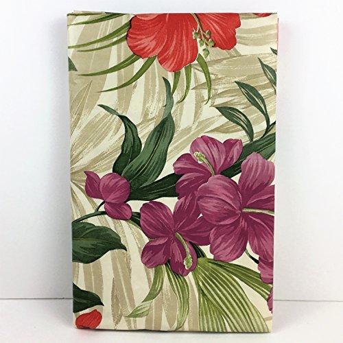 Tablecloth Umbrella Vinyl Design (Elrene Summer Fun Vinyl Umbrella Tablecloth Gorgeous Tropical Floral (70 Round))