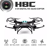 RC Helicopter With Camera - Eachine H8C Quadcopter with 2.0MP HD Camera 2.4G, 6-Axis Headless Mode RC,Black