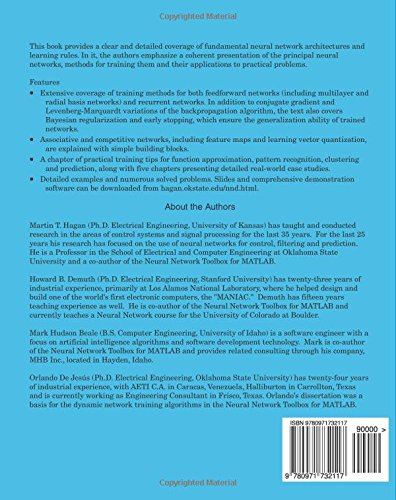 Design pdf beale neural by hagan demuth network and