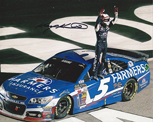 AUTOGRAPHED 2014 Kasey Kahne #5 Farmers Insurance Racing ATLANTA RACE WINNER (On-Track Celebration) Hendrick Motorsports Signed Collectible Picture NASCAR 9X10 Inch Hero Card Photo with COA