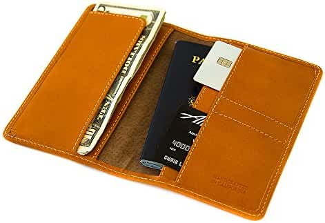 Clark genuine leather, travel, passport and phone wallet. Made in the USA.