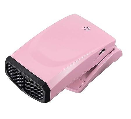 YSCCSY Ventola riscaldatore Elettrico 175W Design Pieghevole Inverno Caldo USB Porta di Ricarica Mini scrivania Handy Fan Stufa radiatore per Ufficio Domestico,Blue