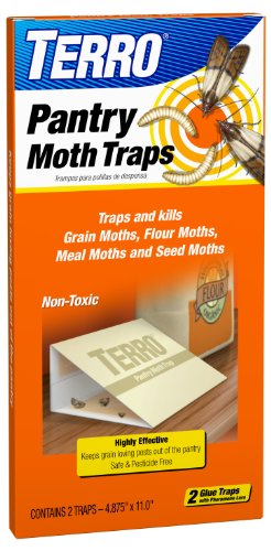 - TERRO T2900 2-Pack Pantry Moth Traps - Traps grain moths, flour moths, meal moths, and seed moths