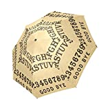 Fashionable Ouija board Compact Travel Windproof Rainproof Umbrella