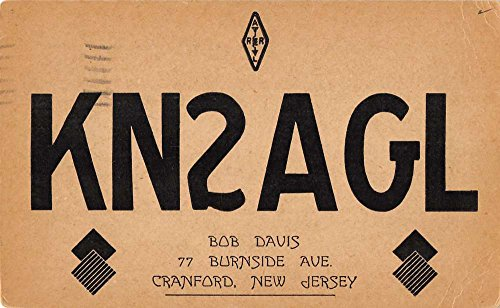 Cranford New Jersey QSL radio card KN2AGL antique pc Z20733