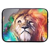 Powerful Lion 13-15 Inch Laptop Sleeve Bag - Tablet Clutch Carrying Case,Water Resistant, Black