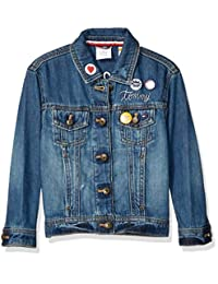 adffcdb400 Tommy Hilfiger Girls Adaptive Jean Jacket with Magnetic Buttons Jacket