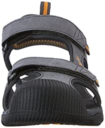 Teva Toachi Closed Toe Sandal (Little Kid/Big Kid), Dark Grey/Orange-T, 5 M US Big Kid