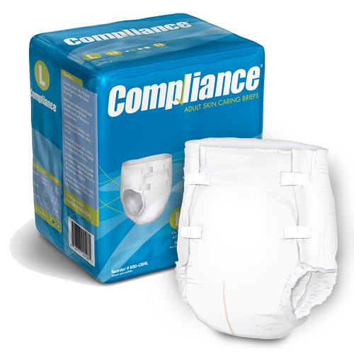 Compliance Adult Skin Caring Briefs - 2X-Large - 63'' - 69'' (25/pk | 4 pk/cs)