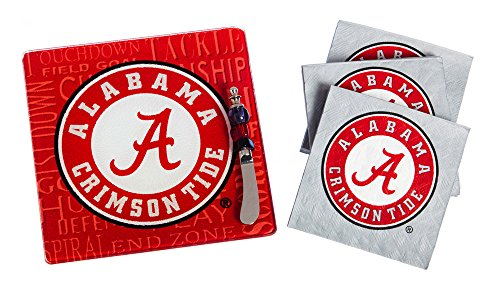 Team Sports America Alabama Crimson Tide Tailgating Napkin, Spreader and Surface Saver Party Set