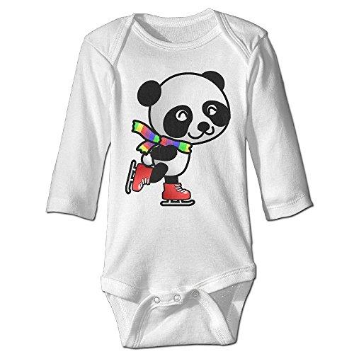 Baby Bodysuit Skating Panda One Piece Baby Long Sleeve Girl Jumpsuit 12 Months (Diy Basketball Halloween Costume)