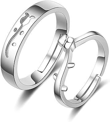 Digno romántico Cartero  Beydodo Anillos de Plata Ley Flor Rosa Anillo Ajustable (Precio para 1  Pcs): Amazon.es: Joyería