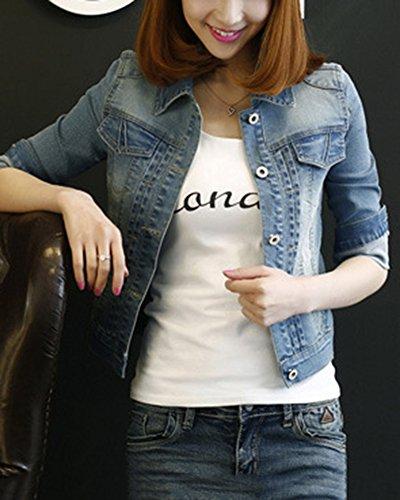 Mezclilla Chaqueta Autocultivo de Para Mujer Chaqueta Zarco Abrigo Jacket Mezclilla Transición qwq0UZY