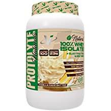 VMI Sports NATURAL ProtoLyte 100% Whey Isolate Protein Powder, Delicious Vanilla Cake Batter, Zero Sugar with added Electrolytes & Enzymes, 1.6lb, Gluten Free, Non GMO, Lactose Free, Stevia Sweetenend