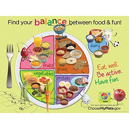 Amazon.com: Learning ZoneXpress MyPlate 18 x 24 in Laminated ...